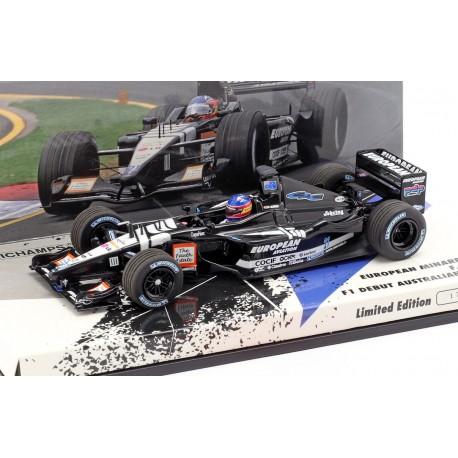 Minardi PS01 F1 Debut Australie 2001 Fernando Alonso Minichamps 413010121