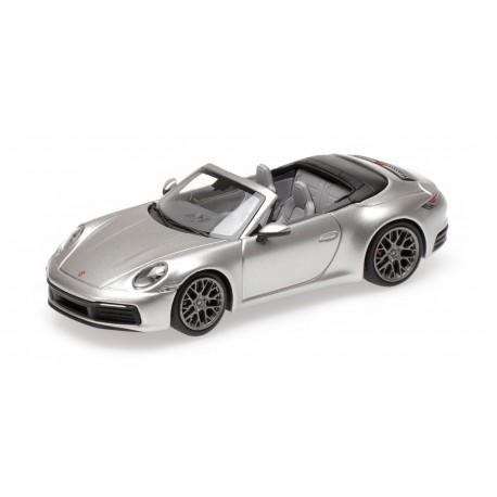 Porsche 911 992 Carrera 4S Cabriolet 2019 Silver Minichamps 410069330
