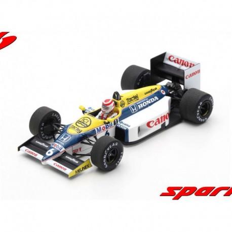 Williams FW11 6 F1 Winner Brésil 1986 Nelson Piquet Spark S7480