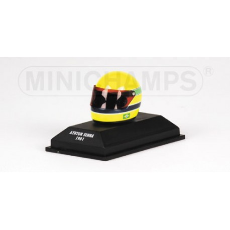 casque ayrton senna 1981 1 8 minichamps 540381115 miniatures minichamps. Black Bedroom Furniture Sets. Home Design Ideas
