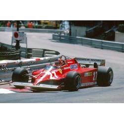 Ferrari 126CK 27 F1 Monaco 1981 Gilles Villeneuve Looksmart LS18RC03