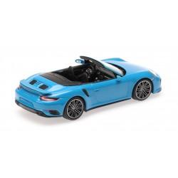 Porsche 911 991.2 Turbo S Cabriolet 2017 Blue Minichamps 410067182