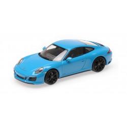 Porsche 911 991.2 Carrera 4 GTS 2017 Blue Minichamps 410067322