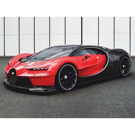 bugatti chiron noctunre rouge italien 2016 looksmart ls1206b miniatures minichamps. Black Bedroom Furniture Sets. Home Design Ideas