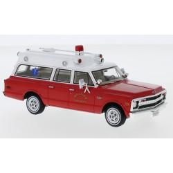 Chevrolet Suburban Ambulance Hillside Fire Department 1970 Red White NEO NEO47246