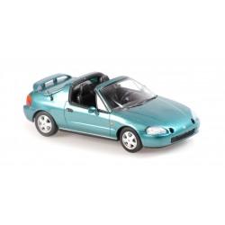 Honda Civic Del Sol 1992 Green Metallic Maxichamps 940191930