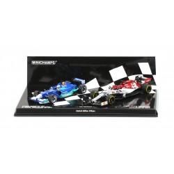 2 Car Set Red Bull Sauber Petronas C20 Alfa Romeo C28 2001 2019 Kimi Raikkonen Minichamps 412190117