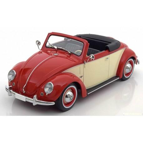 VW Beetle Cabrio Hebmueller 1949 Red Cream KK Scale KKDC180111