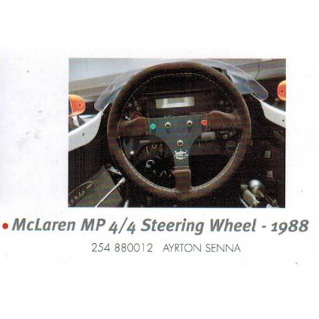 Volant Steering Wheel 1/2 McLaren Honda MP4/4 F1 1988 Ayrton Senna Minichamps 254880012