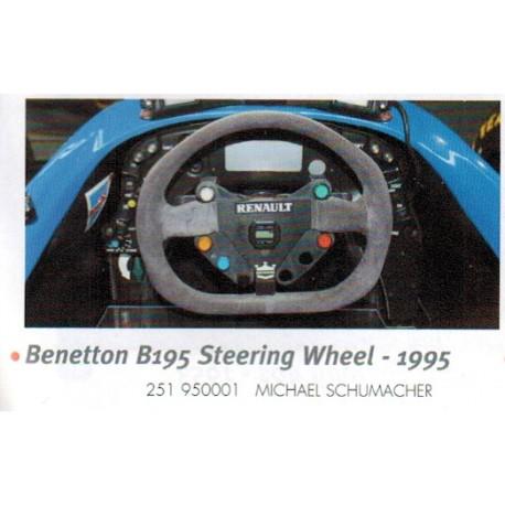Volant Steering Wheel 1/2 Benetton Renault B195 F1 1995 Michael Schumacher Minichamps 251950001