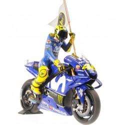 Yamaha YZR M1 46 Moto GP Catalunya 2018 Valentino Rossi Minichamps 122183246