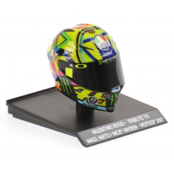 Casque Helmet AVG 1/10 Valentino Rossi Moto GP 2017 Tribute to Angel Nieto and Nicky Hayden Minichamps 315170056
