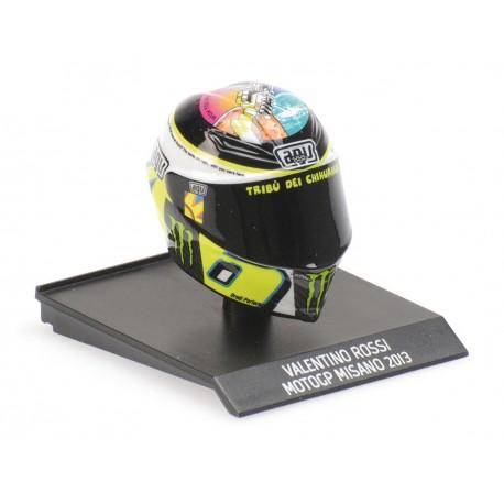 Casque Helmet AVG 1/10 Valentino Rossi Moto GP Misano 2013 Minichamps 315130056