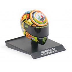 Casque Helmet AVG 1/10 Valentino Rossi Moto GP Qatar 2011 Minichamps 315110056
