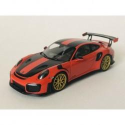 Porsche 911 991.2 GT2RS Golden Magnesium Wheels 2018 Orange Minichamps 155068305