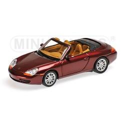 Porsche 911 (996) Rouge Métalisée Cabriolet 1998 Minichamps 400061092