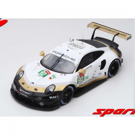 Porsche 911 RSR 92 24 Heures du Mans 2019 Spark 12S018