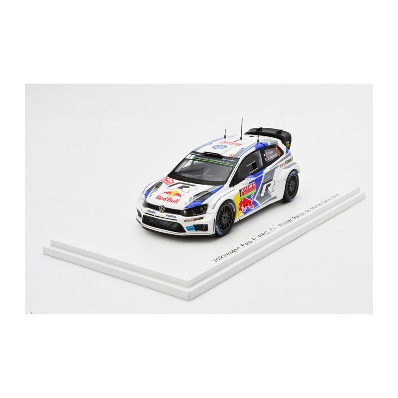 volkswagen polo wrc 1 wrc monte carlo 2014 ogier ingrassia spark s3785 miniatures minichamps. Black Bedroom Furniture Sets. Home Design Ideas