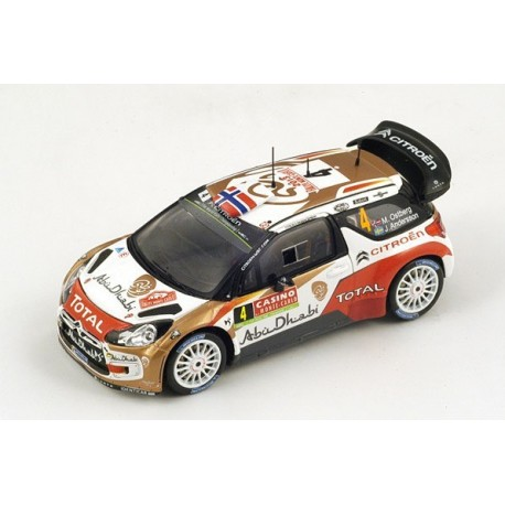 Citroen DS3 4 WRC Monte Carlo 2014 Ostberg Andersson Spark S3789