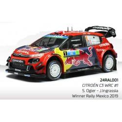 Citroen C3 WRC 1 Rallye du Mexique 2019 Ogier Ingrassia IXO IXO24RAL001