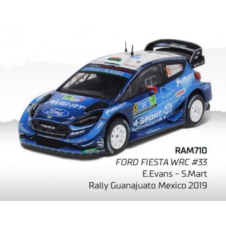 Ford Fiesta WRC 33 Rallye Mexique 2019 Evans Martin IXO RAM710