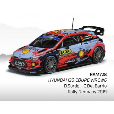 Hyundai i20 WRC 6 Rallye d'Allemagne 2019 Sordo Del Barrio IXO RAM728