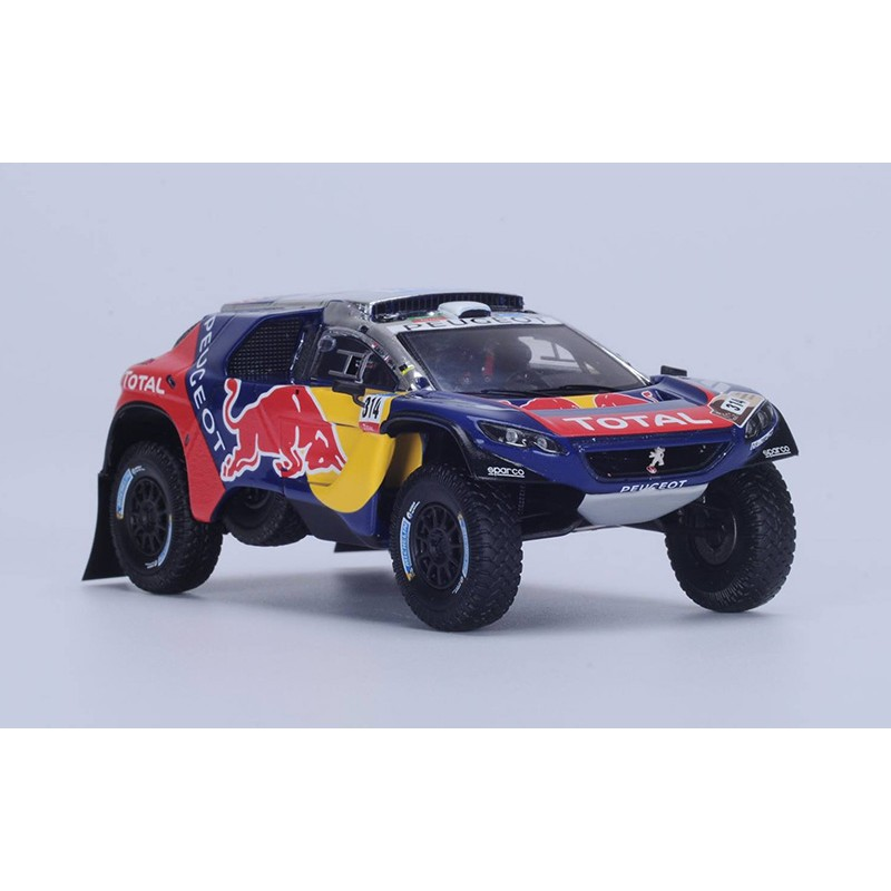 peugeot 2008 dkr 314 rallye dakar 2016 loeb elena spark s4878 miniatures minichamps. Black Bedroom Furniture Sets. Home Design Ideas