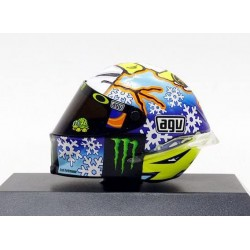 Casque 1/8 AGV Valentino Rossi Moto GP Test Sepang 2016 Minichamps 398160076