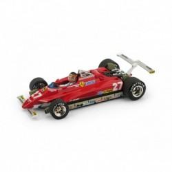 Ferrari 126C2 Turbo with driver 27 F1 USA Long Beach 1982 Gilles Villeneuve Brumm R272-CH