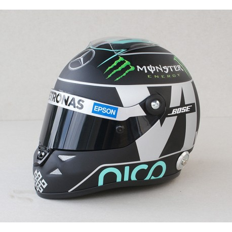 casque 1 2 nico rosberg f1 2015 schuberth miniatures minichamps. Black Bedroom Furniture Sets. Home Design Ideas