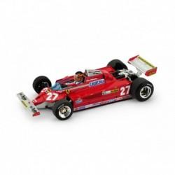 Ferrari 126 CK Turbo with driver 27 F1 Italie 1981 Gilles Villeneuve Brumm R390-CH