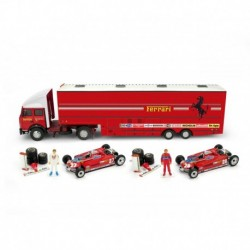 Race Transporter Set Fiat Iveco 190 Scuderia Ferrari F1 Espagne 1981 Villeneuve Pironi Brumm RTS09