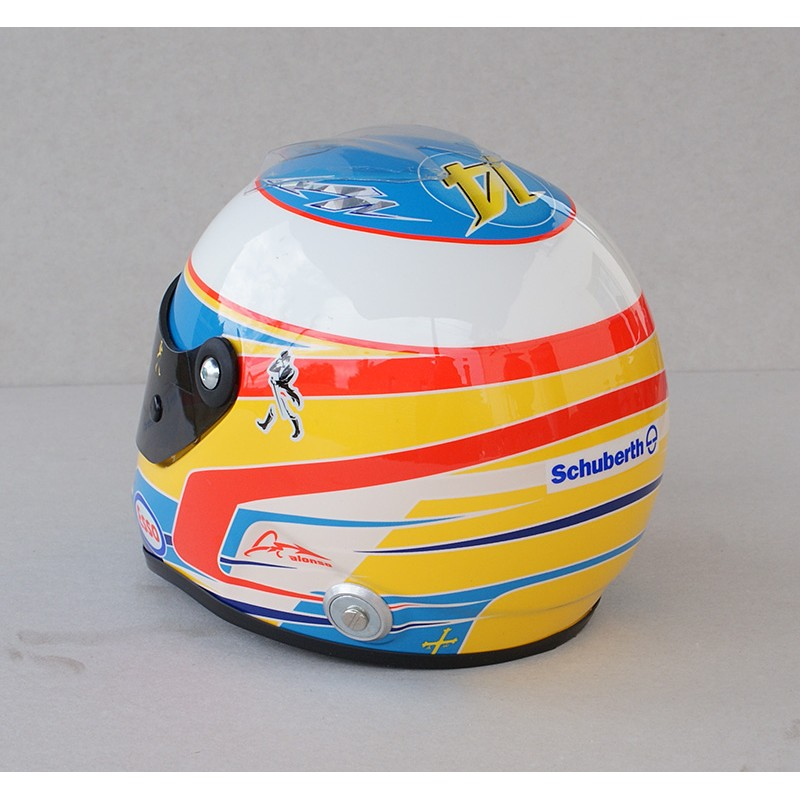 casque 1 2 fernando alonso f1 2015 schuberth miniatures minichamps. Black Bedroom Furniture Sets. Home Design Ideas
