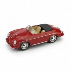 Porsche 356 Speedster Aperta 1952 Rosso Rubino - interno beige Brumm R117S-05