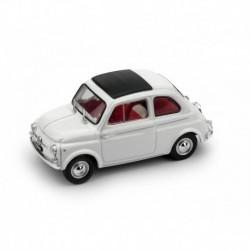 Fiat 500D Chiusa 1964 Bianco - interno rosso avorio Brumm R405-02