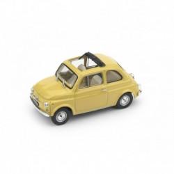 Fiat 500F Aperta 1971 Giallo Tahiti - interno beige Brumm R454-05