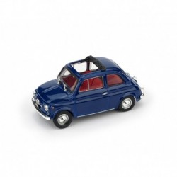 Fiat 500F Aperta 1970 Blu Oriente - interno rosso Brumm R454-15