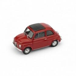Fiat 500F Aperta 1965 Rosso Medio - interno nero Brumm R455-01