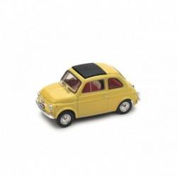 Fiat 500F Chiusa 1971 Giallo Tahiti - interno beige Brumm R455-05