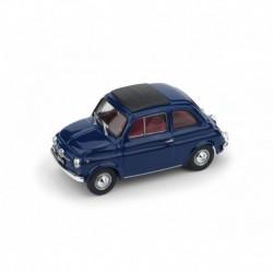 Fiat 500F Chiusa 1970 Blu Oriente - interno rosso Brumm R455-15