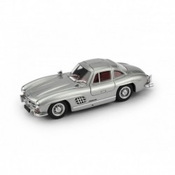 Mercedes 300SL Coupe Gullwing 1954 Silver - interno red Brumm BRUS1919