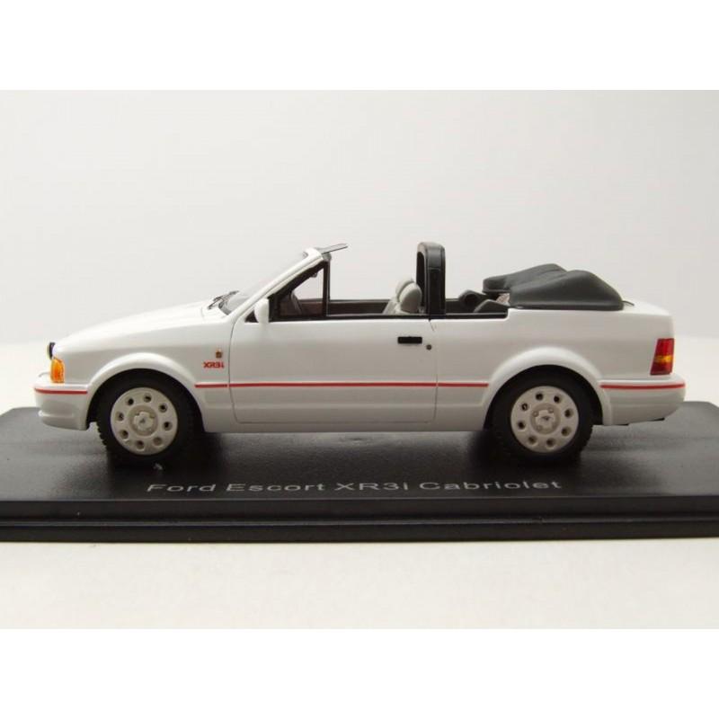 Ford Escort mk4 xr3i convertible 1986 blanco coche modelo 1:43 neo scale models