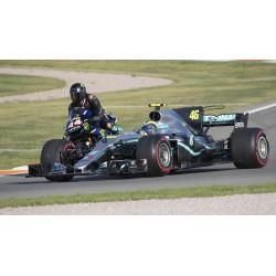 Mercedes F1 W10 EQ Power+ F1 Valencia 2019 Valentino Rossi Ride Swap Minichamps 410191746