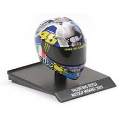 Casque Helmet AVG 1/10 Valentino Rossi Moto GP Misano 2009 Minichamps 315090056