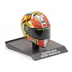Casque Helmet AVG 1/10 Valentino Rossi Moto GP Valencia 2011 Minichamps 315110066