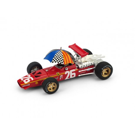 Ferrari 312 26 F1 France 1968 Jacky Ickx starting grid Brumm R171CHU