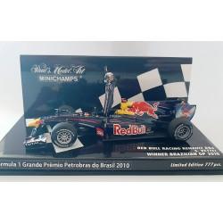 Red Bull Renault RB6 F1 Winner Brésil 2010 Sebastian Vettel Minichamps 413100205