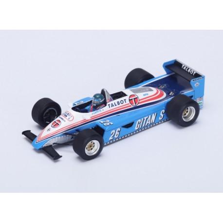 Ligier JS19 F1 Autriche 1982 Jacques Laffite Spark S4264