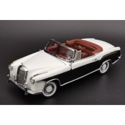 Mercedes 220 SE Convertible W180II 1958 Black White Sunstar SUN3576