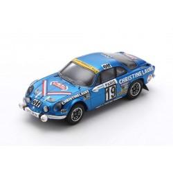 Alpine Renault A110 1600 SC 19 Rallye Monte Carlo Winner Coupe des dames 1976 Mouton Conconi Spark S6116